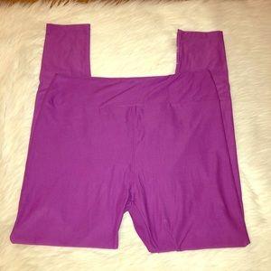 LulaRoe purple Tall & Curvy Leggings